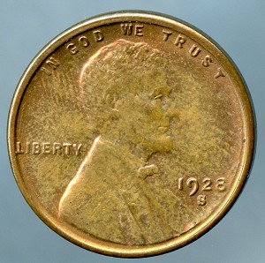 1928 S Lincoln Cent B.U. MS-60