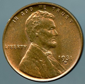 1931 D Lincoln Cent Choice B.U. MS-63