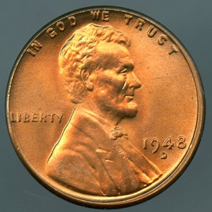 1948 D Lincoln Cent MS-65