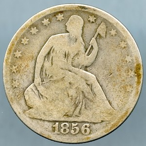 1856 O Seated Half Dollar Good +