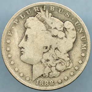 1888 O Morgan Dollar Good