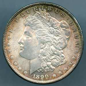 1890 Morgan Dollar Choice MS-63