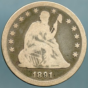 1891 Seated Quarter Good