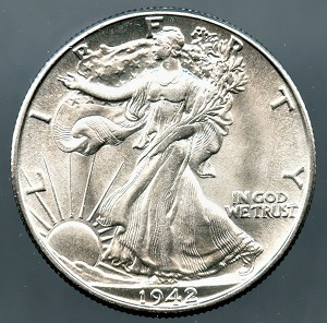1942 Walking Half Dollar MS-64