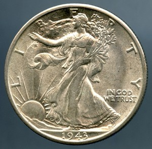 1943 S Walking Half Dollar MS-63
