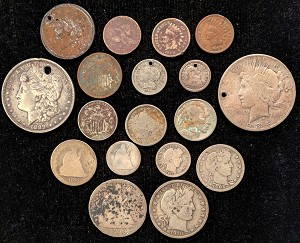 18 - Different U.S. Type Coins Cull Condition