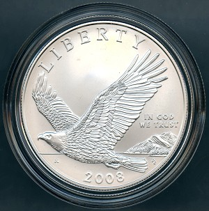 2008-P Bald Eagle Commemorative Silver Dollar Uncirculated - NO COA