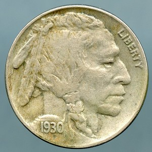 1930 S Buffalo Nickel VF 35 details light corrosion by date