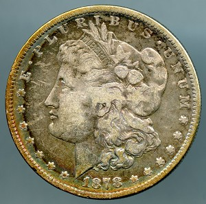 1878 S Morgan Dollar Fine details cleaned