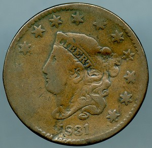 1831 Large Cent Cull
