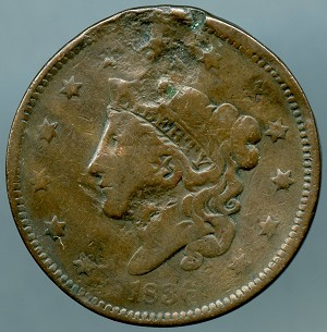 1836 Large Cent Cull