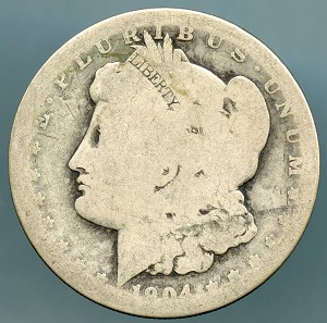 1904 S Morgan Dollar Poor