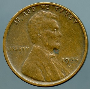 1925 D Lincoln Cent XF 40 spot on obverse