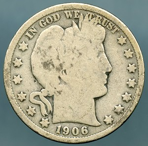 1906 D Barber Half Dollar Good