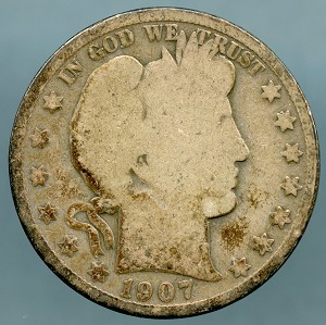 1907 Barber Half Dollar About Good