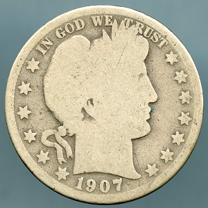 1907 O Barber Half Dollar About Good
