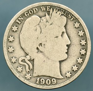 1909 Barber Half Dollar Good