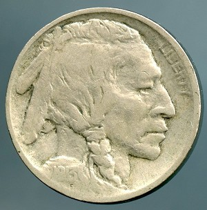 1913 TY 2 Buffalo Nickel Fine