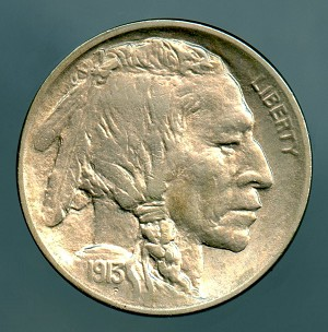 1913 T1 Buffalo Nickel MS 62