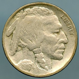 1916 Buffalo Nickel VF-20