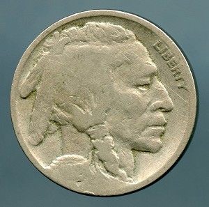 1918 S Buffalo Nickel About Good