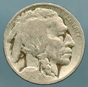 1919 Buffalo Nickel AG