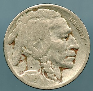 1919-D Buffalo Nickel VG