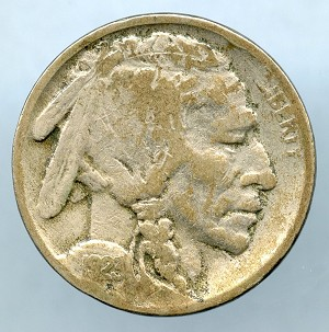 1923 S Buffalo Nickel VG