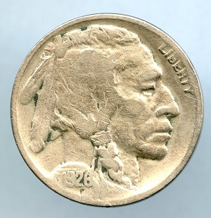 1926 D Buffalo Nickel VG details cleaned