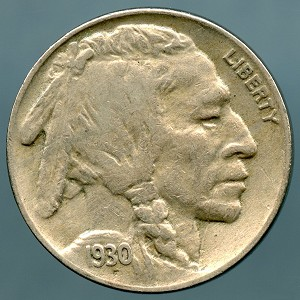 1930 Buffalo Nickel XF-40