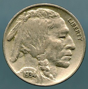 1934 Buffalo Nickel XF 40