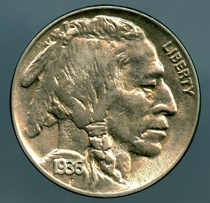 1936 Buffalo Nickel MS 64