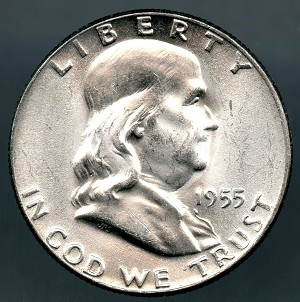 1955 Franklin Half Dollar MS-63
