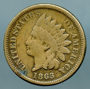 1863 C.N. Indian Cent Good