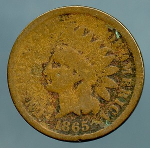 1865 Indian Cent AG