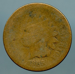 1865 Indian Cent About Good