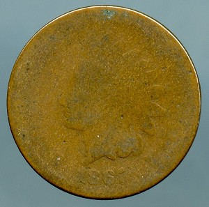 1867 Indian Cent Poor