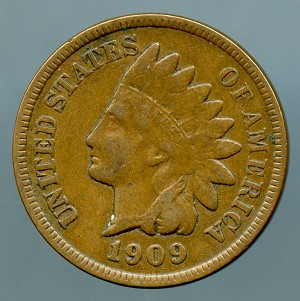 1909 Indian Cent VF 20