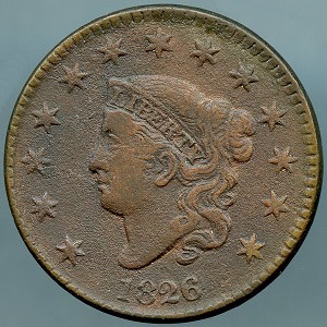1826 Large Cent Fine corroded