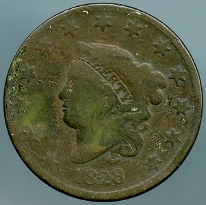 1828 Large Cent Good dark