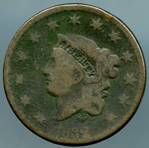1832 Large Cent AG dark