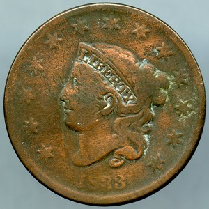 1833 Large Cent About Good