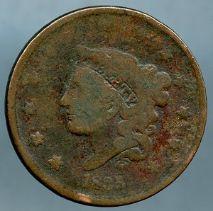 1835 Large Cent About Good