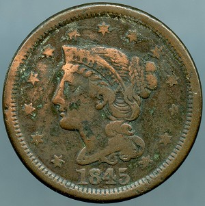 1845 Large Cent AG