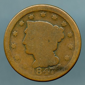 1847 Large Cent AG