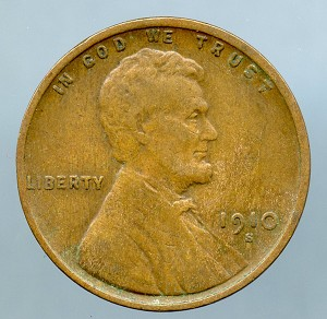 1910 S Lincoln Cent VF 20