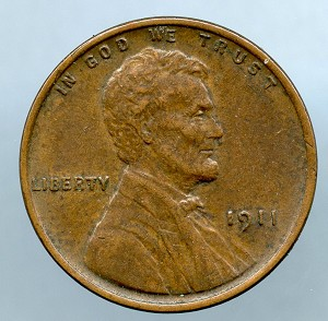 1911 Lincoln Cent XF 40