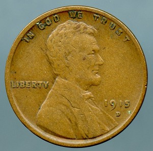 1915 D Lincoln Cent VF-20