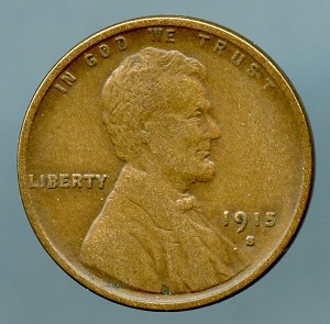 1915 S Lincoln Cent VF 20 plus