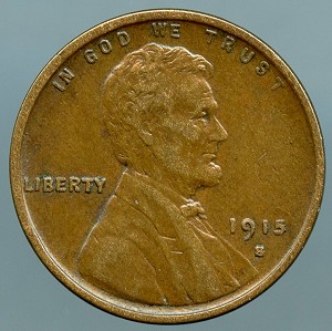 1915 S Lincoln Cent Choice XF-45+